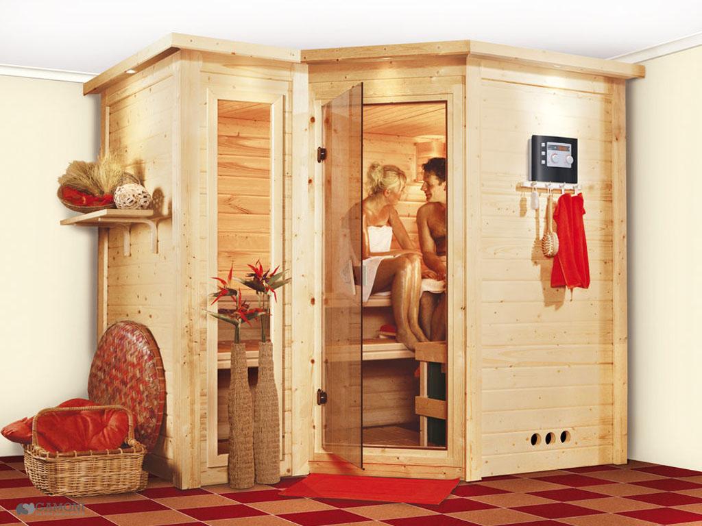 ich liebe meinen garten karibu massiv sauna sahib 2. Black Bedroom Furniture Sets. Home Design Ideas