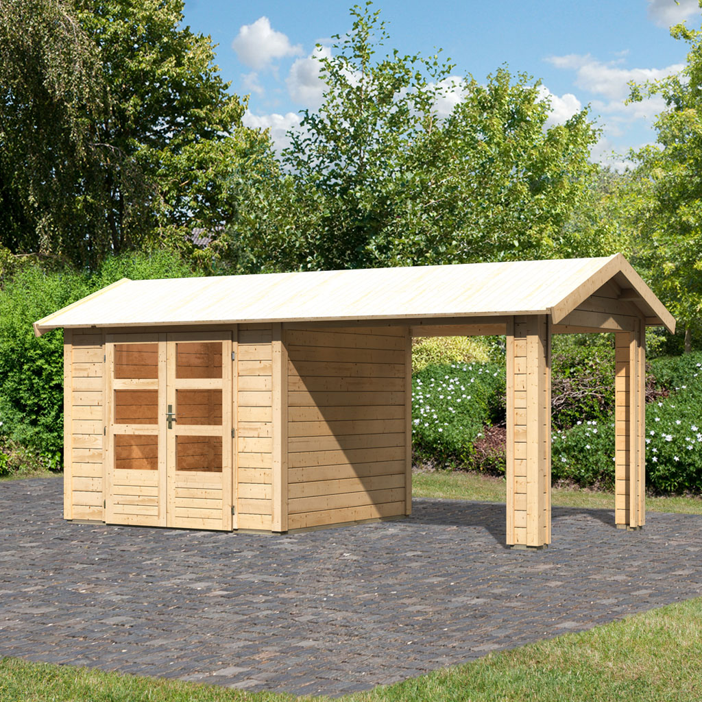 Gamoni.de Ich liebe meinen Garten. Woodfeeling 28 mm Gartenhaus ...