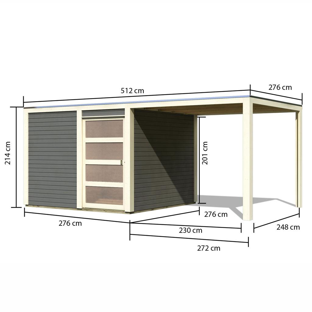 karibu gartenhaus qubic. Black Bedroom Furniture Sets. Home Design Ideas