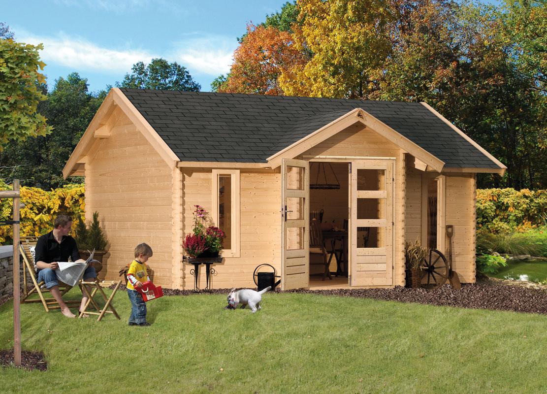 ich liebe meinen garten woodfeeling 38 mm blockbohlen gartenhaus nordland. Black Bedroom Furniture Sets. Home Design Ideas