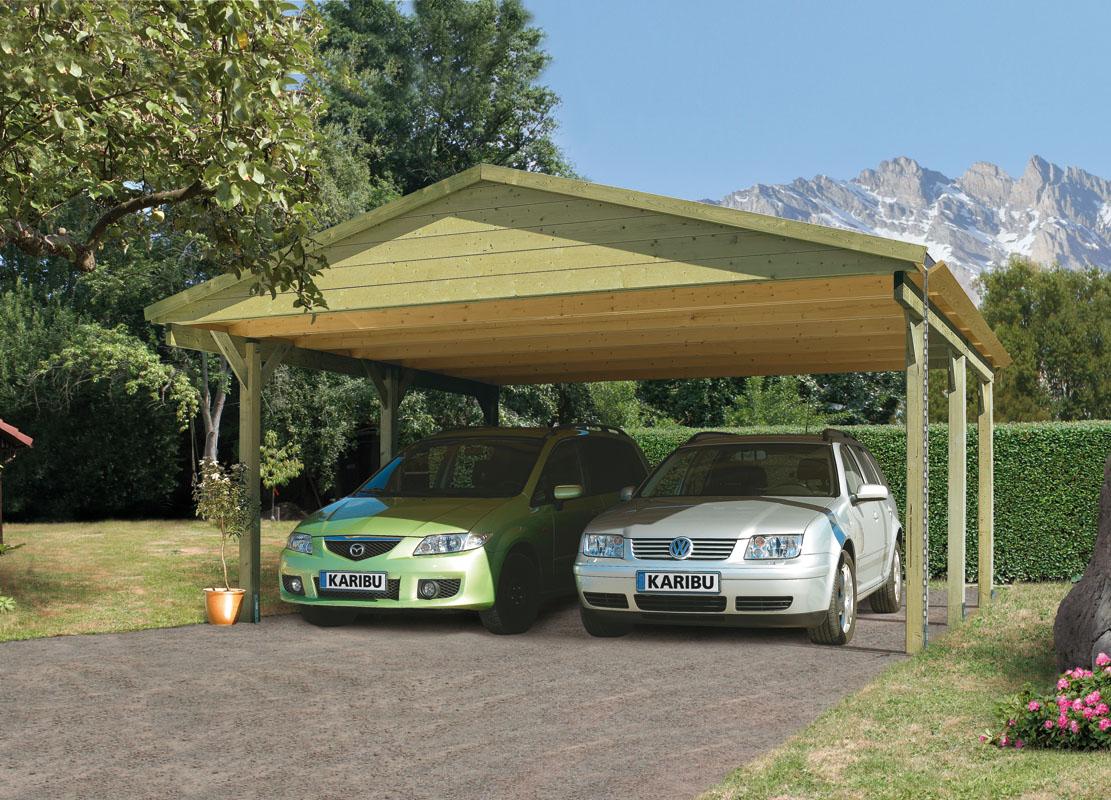 Gamoni De Ich Liebe Meinen Garten Karibu Satteldach Doppel Carport