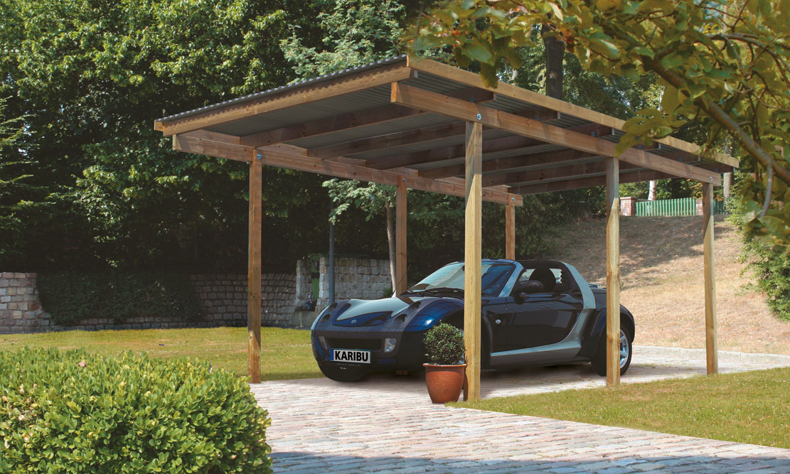 ich liebe meinen garten karibu eco carport 2. Black Bedroom Furniture Sets. Home Design Ideas
