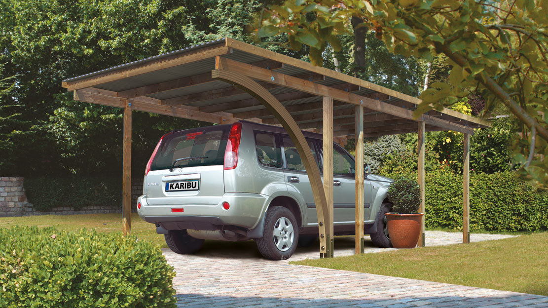 ich liebe meinen garten karibu eco carport 1. Black Bedroom Furniture Sets. Home Design Ideas