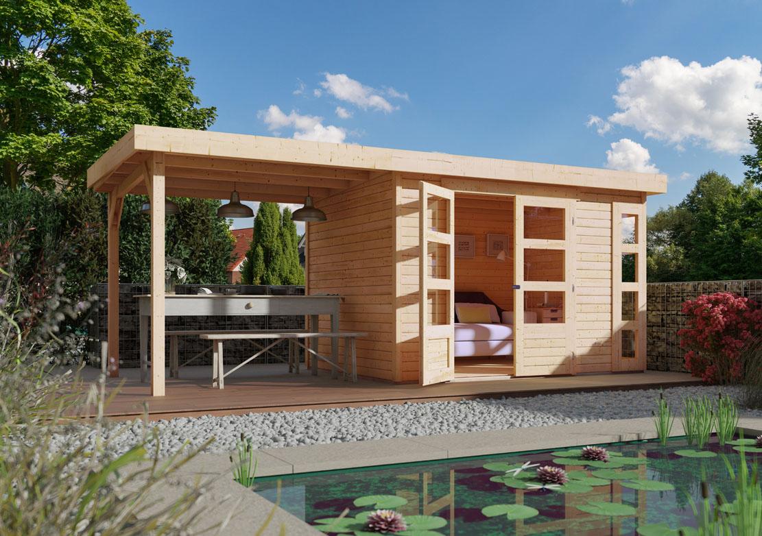 Ich liebe meinen garten woodfeeling 19 mm gartenhaus kerko 4 - Offenes gartenhaus ...
