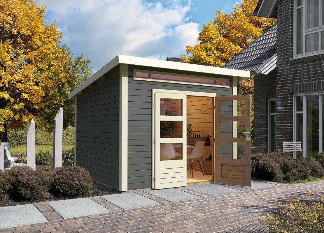 Gartenhaus Mit Fußboden 28mm ~ Gartenhaus flachdach mit seitendach mm nwh harz