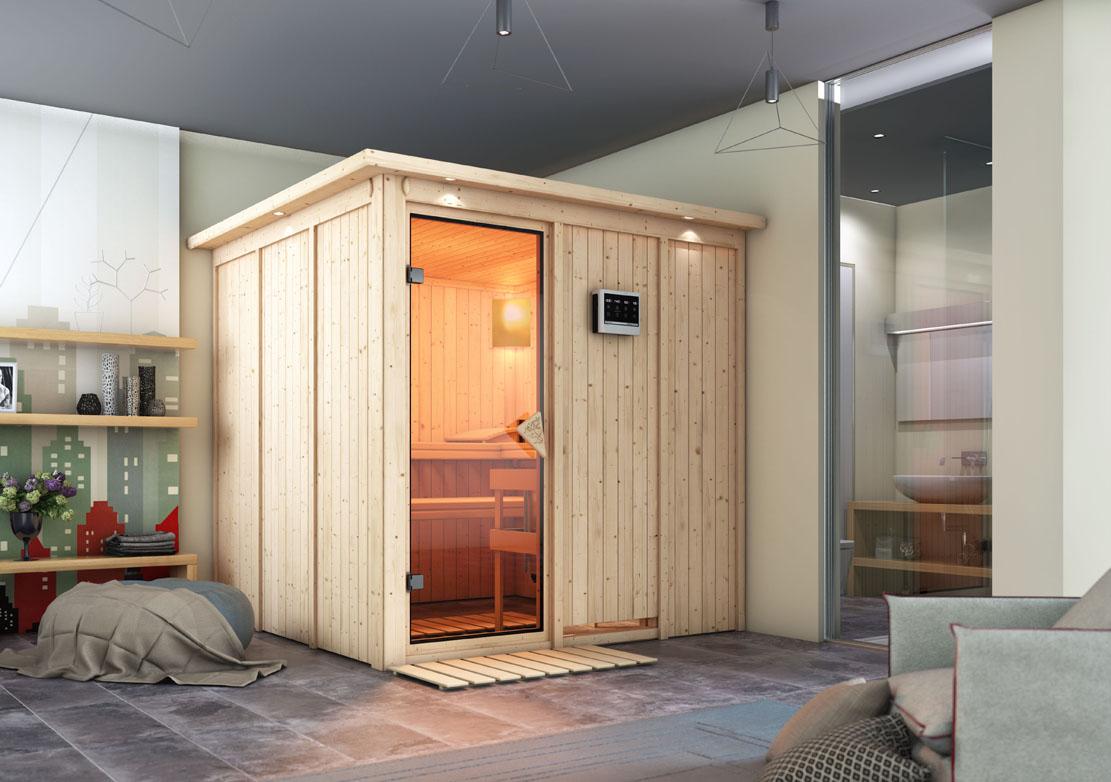 ich liebe meinen garten karibu 68 mm system sauna rodin. Black Bedroom Furniture Sets. Home Design Ideas