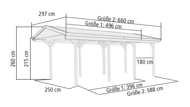 ich liebe meinen garten karibu satteldach einzel carport classic 2. Black Bedroom Furniture Sets. Home Design Ideas